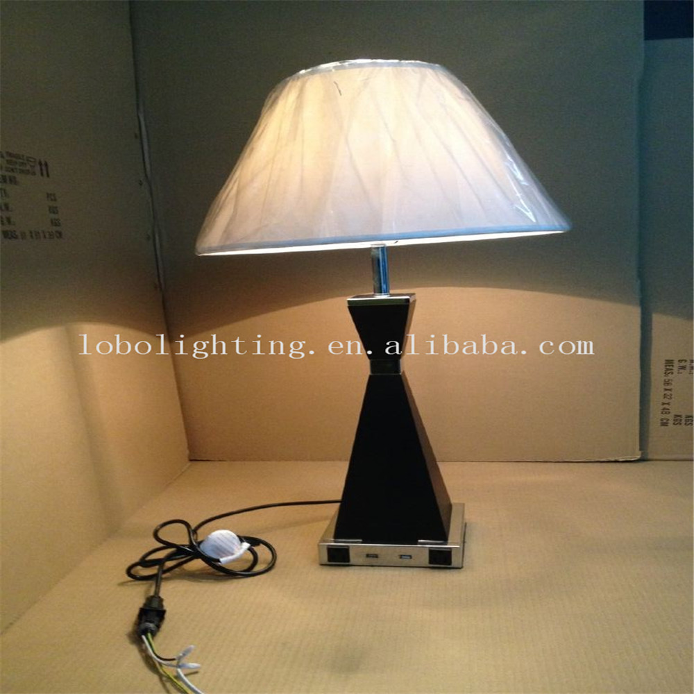 Hot Selling Hotel Table Lamps With Usb Power Outlets