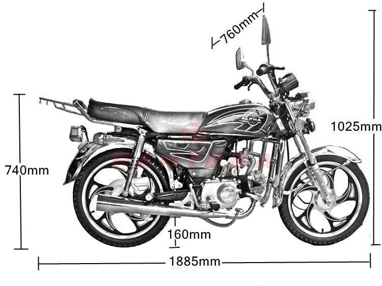 Classic Alpha 50cc 70cc 90cc Motorbike 100cc 110cc