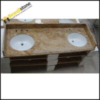 Integrated Commercial Double Bathroom Sink Countertop ...