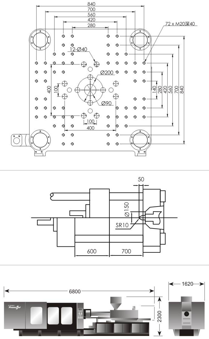 Injection Molding Machine With In Mold Labeling System