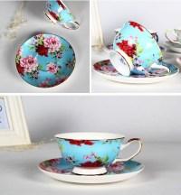 Blue Fine Bone China Tea Cup Vintage Bulk Tea Cups And ...
