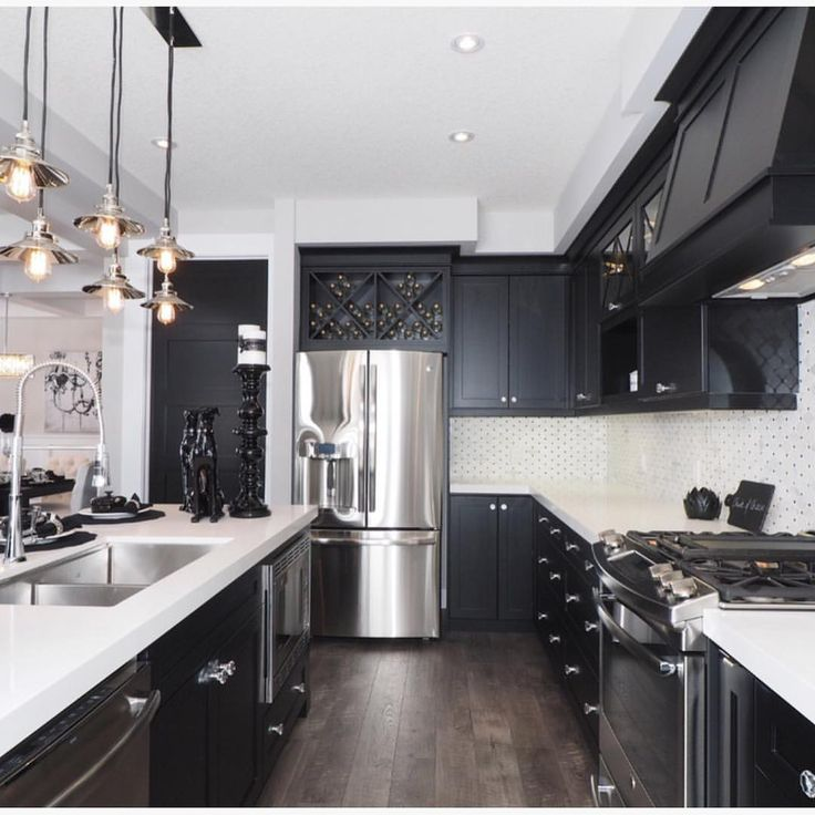 Kitchen Black And White Color Kitchen Cabinet Buy Black And White