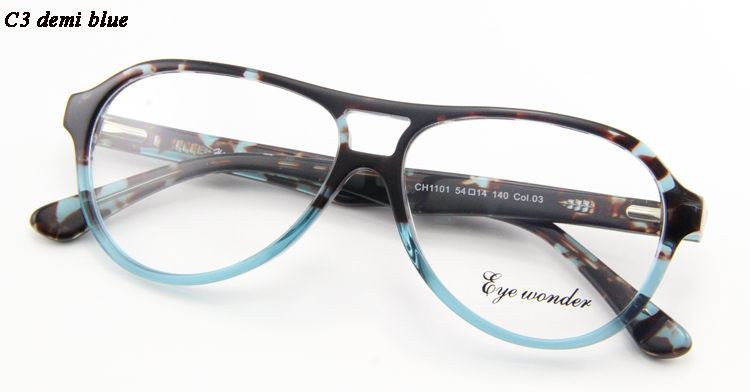 ▽Homens maravilha Eye acetato de moda duplo ponte óculos quadros ... 7b81cb0822