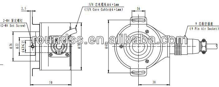 Optical Rotary Incremental encoder for CNC spindle machine