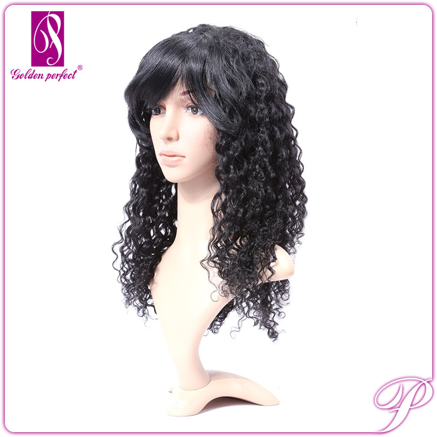 Remy Brazilian Human Hair Wig,Kinky Curly Clip In Hair