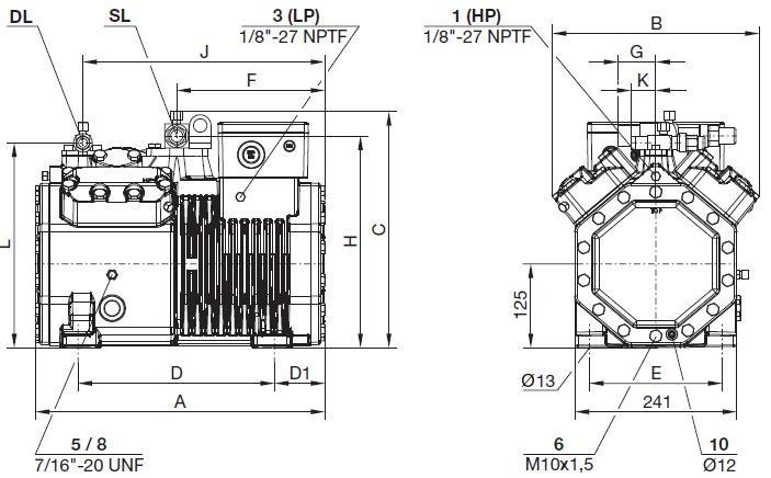 Bitzer 4des-5(4dc-5.2) R22 R404 Compressor With Service