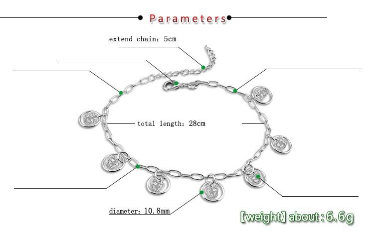 Import d/'Inde Neuf Lot de 3 bracelets de pieds cheville Bijoux fantaisie 19