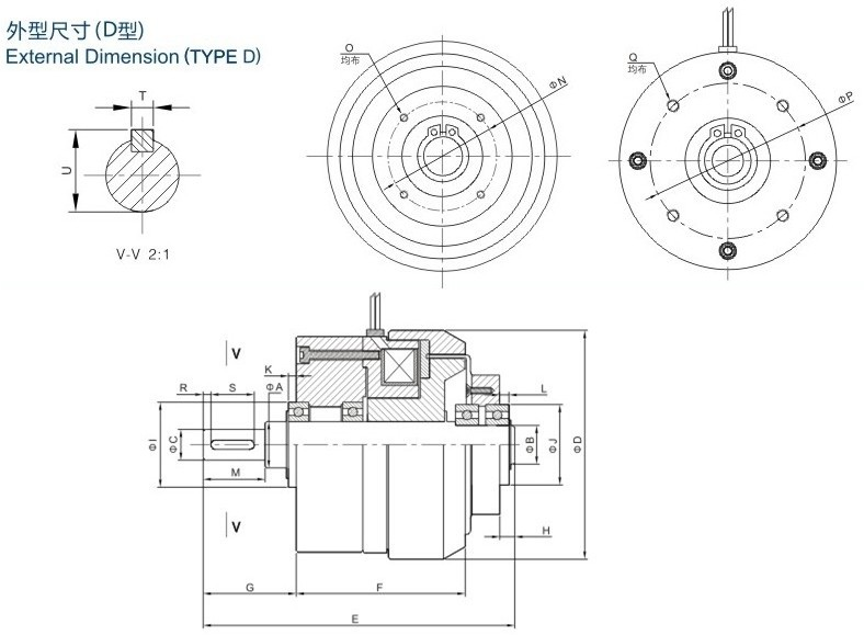 Hysteresis Clutches Used In Tension Control Field,Magnetic