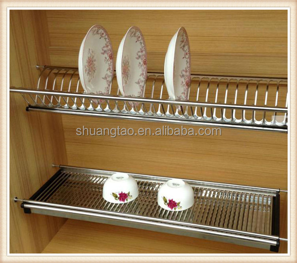wooden kitchen plate rack cabinet island made out of dresser stainless steel dish guangzhou ...