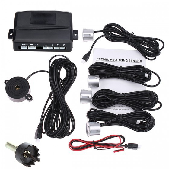 ᗔFree shipping 12V Car Parking sensor system Reverse Backup ...