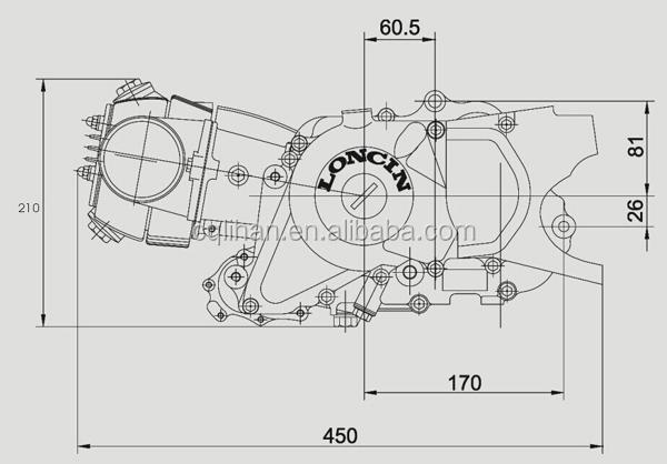 Transmission automatique 90cc loncin moteur pour off road