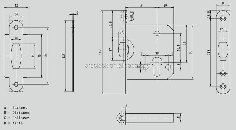 Roller latch door lock, View roller lock, OEM Product
