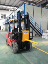 Forklift mounted carpet boom cable roll tire rod for sale ...