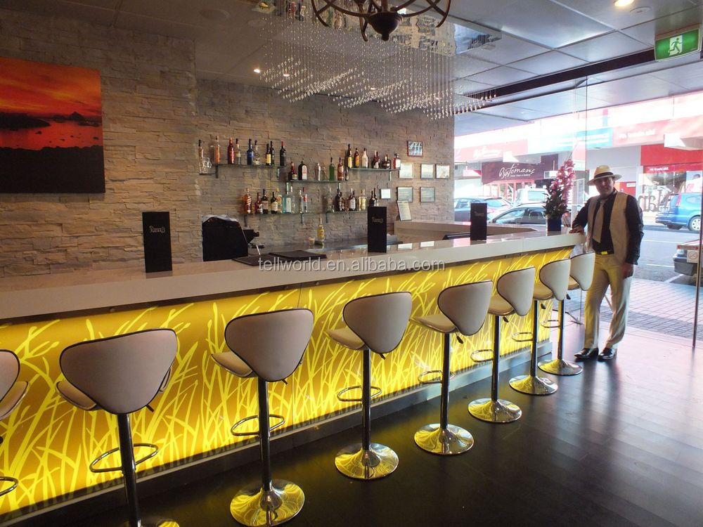 Solid Surface Tables-long Buffet Bar Tables With Bar