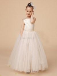 Girl Tutu Long Dress White Color Satin Tank Top Tutu Gown ...