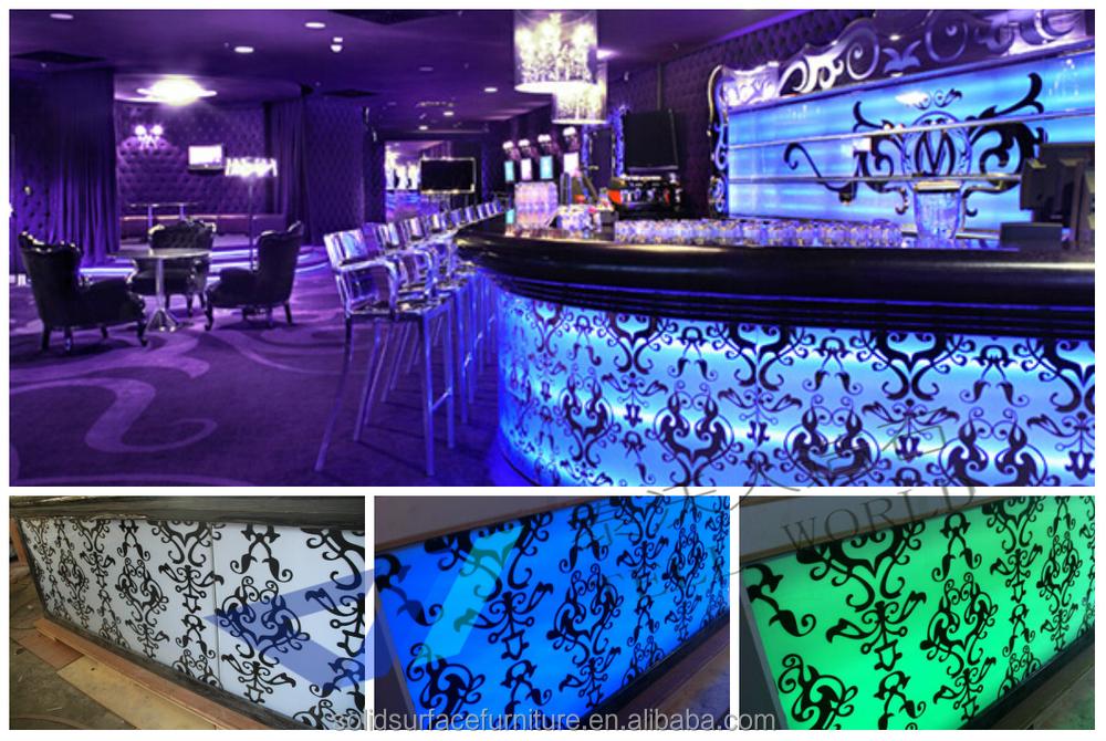 TW Acrylic Nightclub Bar Furniture LED Modern Bar Counter