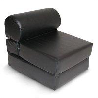 New Ebony Vinyl Adult Foam Sleeper Sofa Chair Furniture
