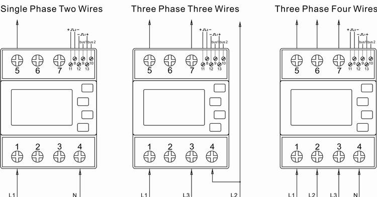 Sdm630-mbus Mbus Three Phase Bi-directional Solar Pv