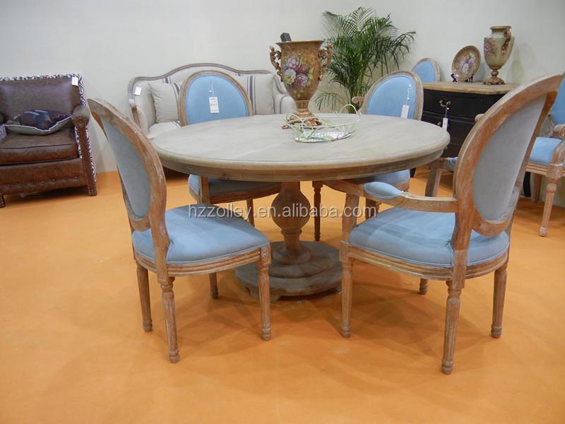 Madeira rstica mesa de jantar redonda mesa de madeira