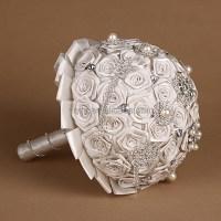 2014 Fashion style Ribbon Rose Bridal Bouquet Holders ...