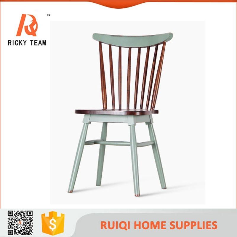 Colorful Natural Wood Simple Windsor Chair Wooden Chair