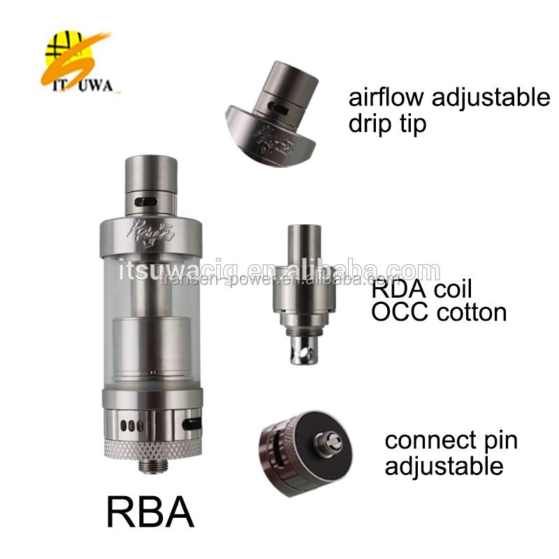 2015 Itsuwa Rage Rda Glass Drip Tips Vaporizer Rda