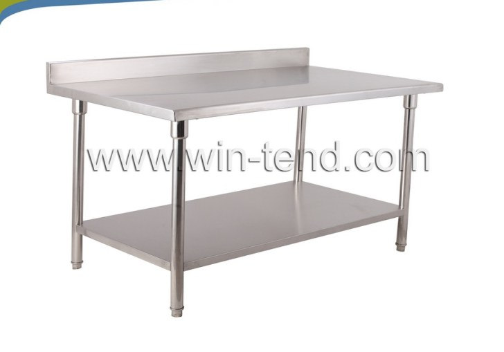 Stainless Steel Prep Table With Shelf