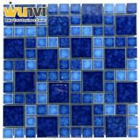 Blue Square Cheap Mosaic Tiles Cheap Glass Mosaic Tile ...