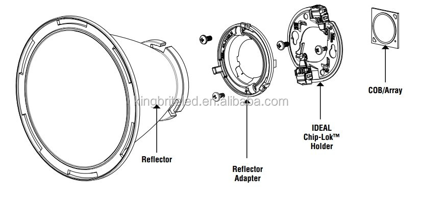 Ideal 50-2100an,Reflector Adapter,Connector For Cxb3070