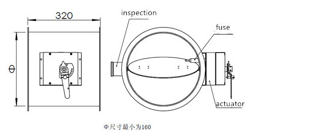 Hvac Manual/ Motorized Round / Square Fusible Link Fire