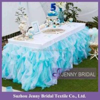 Tc012l Organza And Taffeta Ruffled Curly Willow Table ...