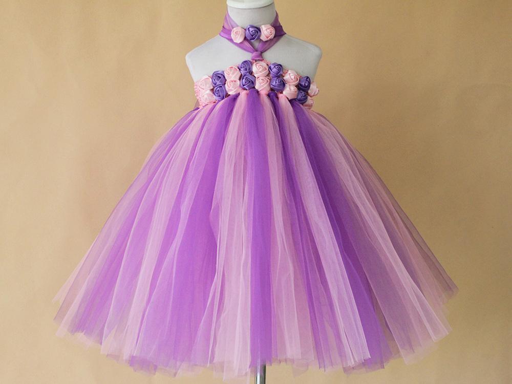 ᗗAlta calidad hecha a mano DIY bebé Tutu vestido verano regalo ...
