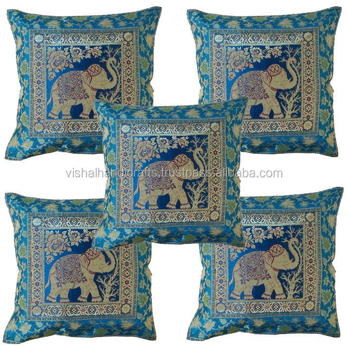 the sofa and chair company 2x2 corner buy indian ethnic antique silk sari brocade cushion ...