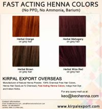 Fast Acting Henna Hair Colors, NO CHEMICAL, View Henna ...