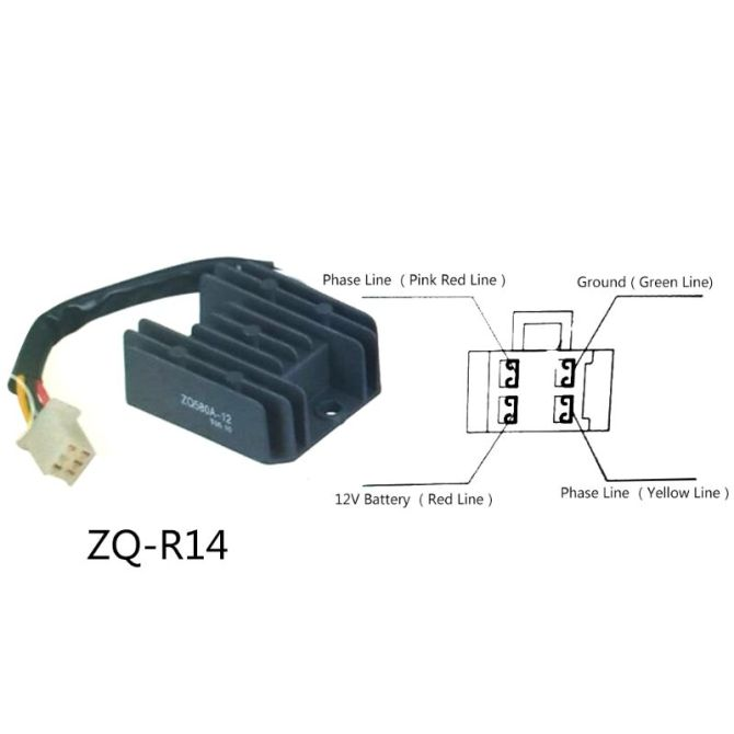 4 wires 12v voltage regulator rectifier for motorcycle boat motor mercury  atv gy6 50 150cc scooter moped jcl nst taotao