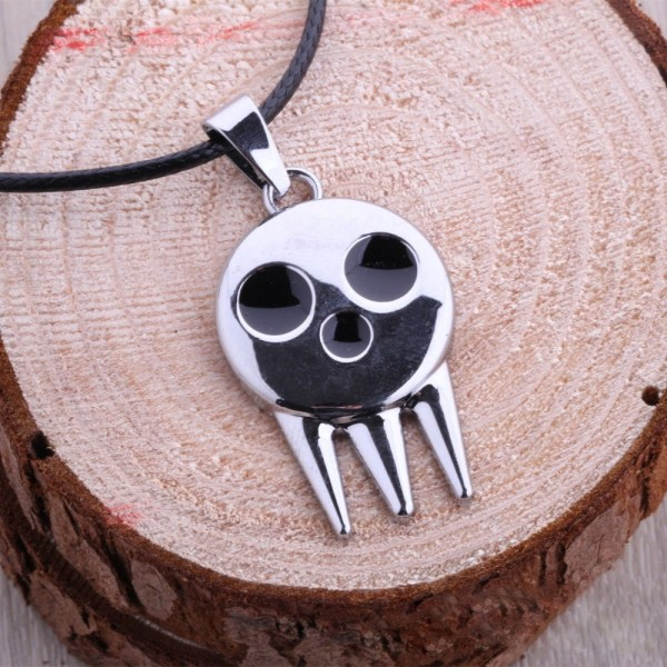 Hot Cool Anime Soul Eater Logo Symbol Death Kid Metal Necklace Unisex Chain Pendant