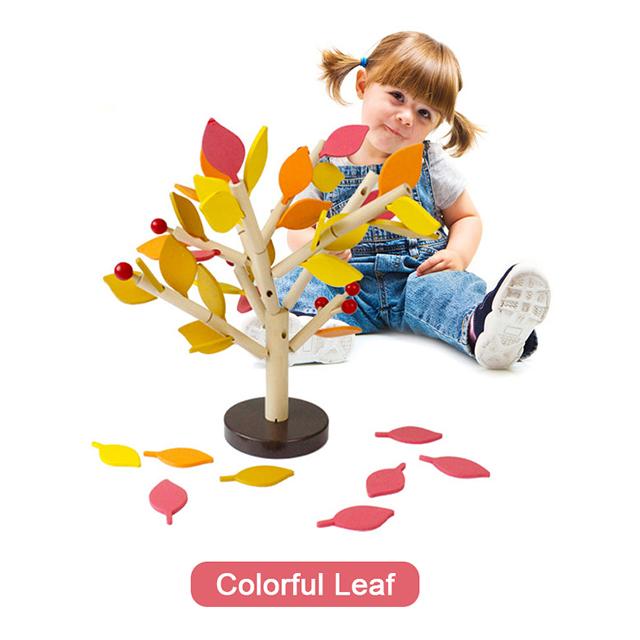 ᑐ2017 Venta caliente Montessori madera Juguetes árbol madera verde ...