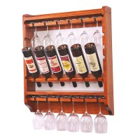 Pine wood wine rack multifunctional wine display Wall ...
