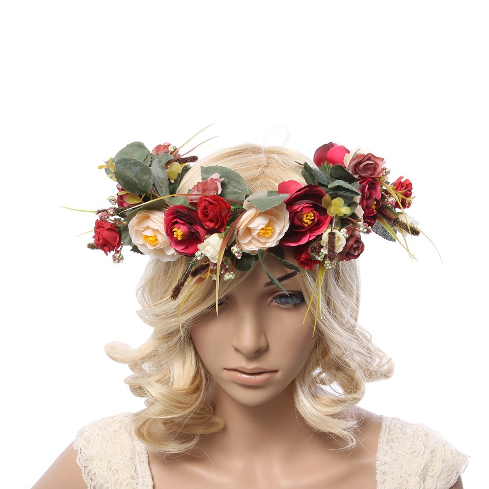 women flower crown Flower Garland headpiece for Wedding