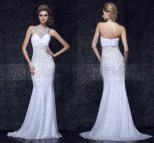 White Elegant Long Evening Gowns