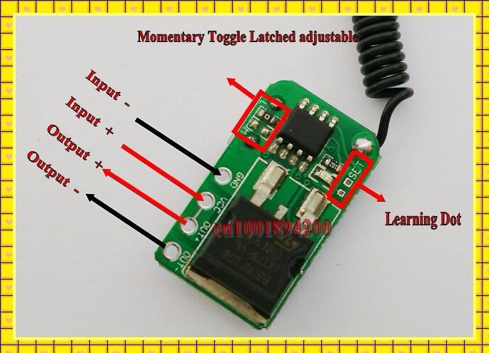 Detective Comics 3.7 V 5 V 6 V 9 V 12 V momentanée Micro Télécommande Commutateur Mini Petit Récepteur