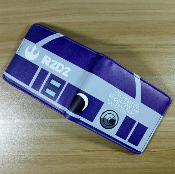 03bd80abbc29 2018 фильм Звездные войны R2-D2 R2D2 логотип 02 кошельки Кошелек сине-белые  кожа W237