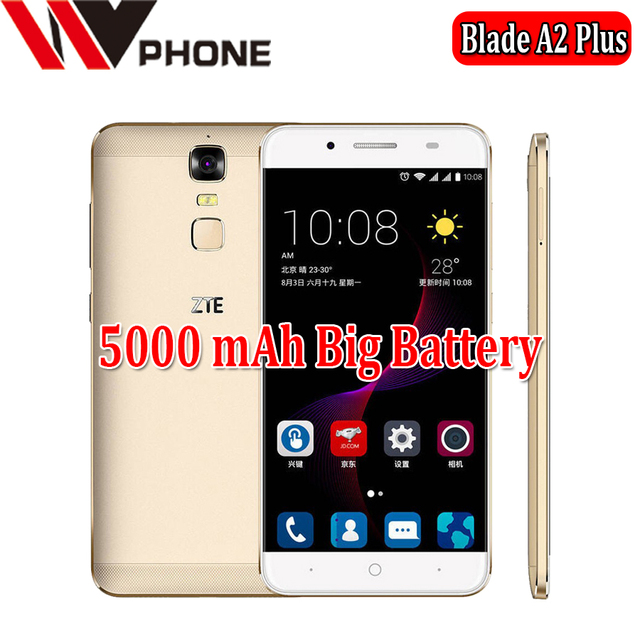 WV Original ZTE Blade A2 Plus MTK6750T Octa Core Android 6.0 3/4G RAM 32GB ROM 4G Mobile Phone 5.5 ''13.0MP Fingerprint