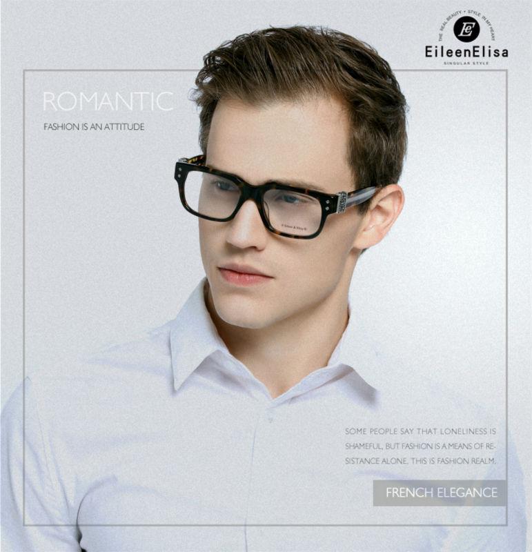 Vidros Do Olho Homens de luxo Originais Homens Óculos de Armação 2016 Óculos  de Marca Óculos de Acetato Frame Ótico EE Fresco Mens 9369e6355a