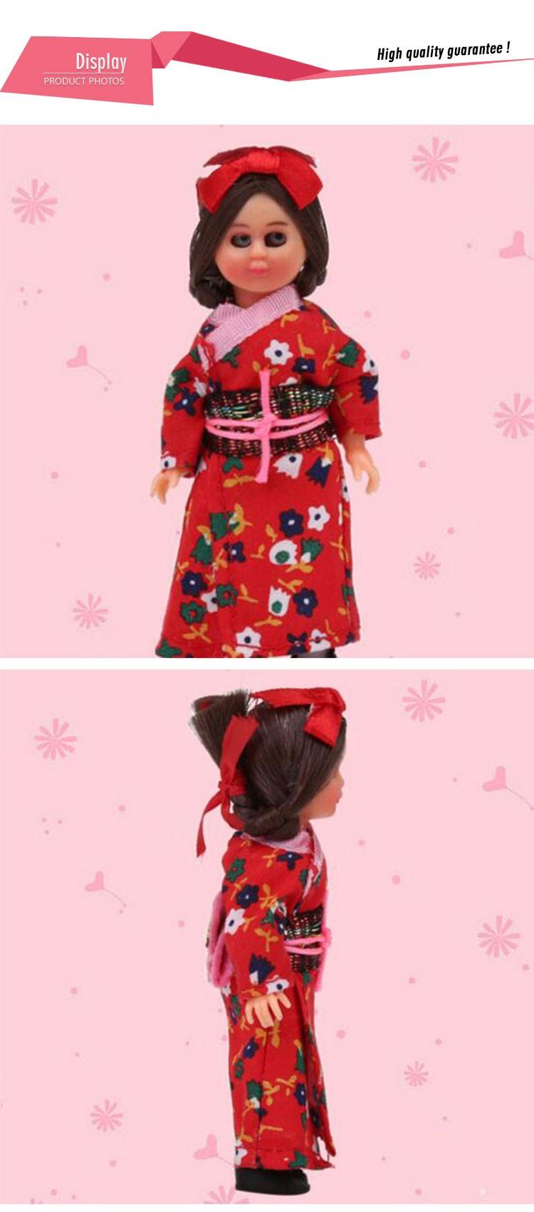 ᐅ5.5 pulgadas niños Juguetes bebé mini étnico Muñecas japonés mujer ...