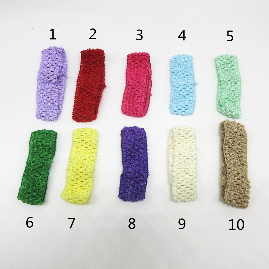 10 unids/lote color al azar niños crochet Bandas para la cabeza ...