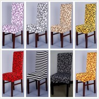 1 Piece Sure Fit Soft Stretch Spandex Pattern Chair Covers ...
