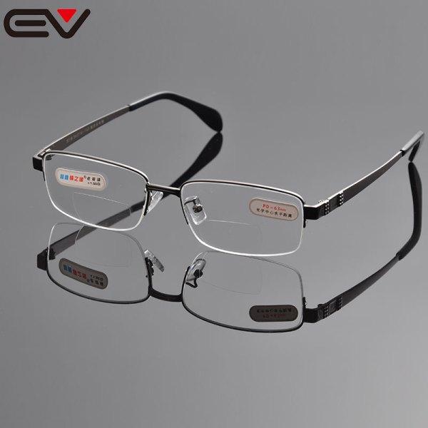 Reading Glasses Men Bifocal Sight Rimless 1.0 1.5 2.0 2