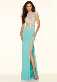Cheap Sexy Long Elegant 2 Two Piece Mermaid Turquoise Prom ...