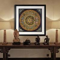 Nepal buddhist shrine mandala faith buddha oil canvas art ...